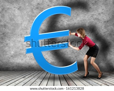 Forex trading background concept with businesswoman - stock photo