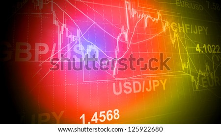 Forex trading business concept in color - stock photo