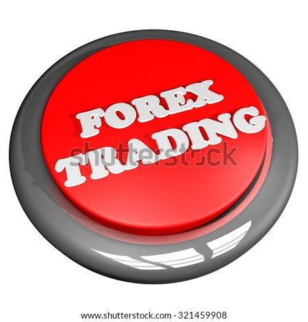 Forex Trading button, isolated over white, 3d render, square image - stock photo