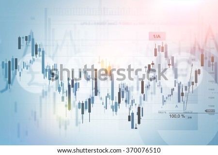 Forex Trading Index Concept Background Illustration. Financial Background. - stock photo