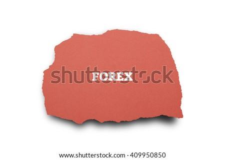 FOREX word written under torn paper. - stock photo