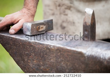 forge a knife - stock photo