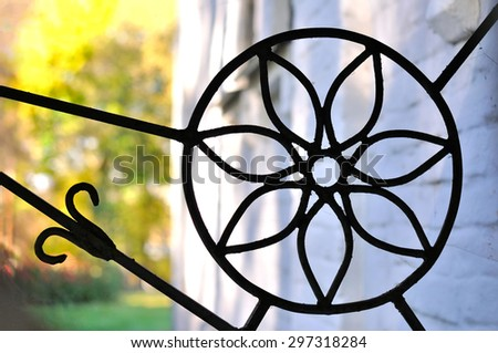 Forged flower - stock photo