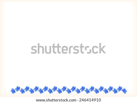 Forget-me-not flowers background - stock photo
