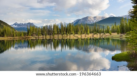 Forgetmenot Pond in Elbow River Valley, Alberta, Canada