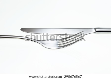 Fork and Knife isolated on white background.