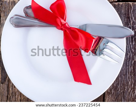 fork,knife and plate