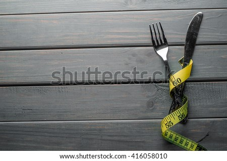 fork knife plate - stock photo