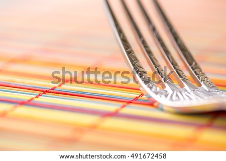 Fork Macro horizontal detailed right background