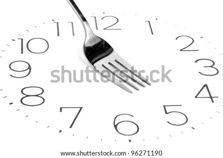 Fork on clock face