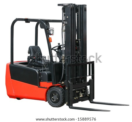 Forklift from my warehouse equipment series - stock photo
