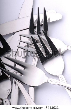 forks  background - stock photo