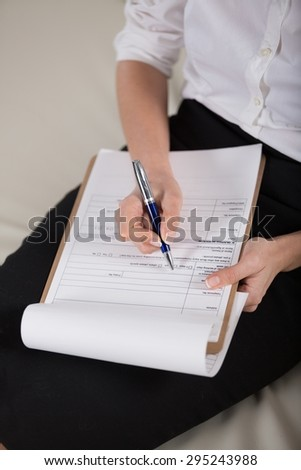 Form, filling, paperwork. - stock photo