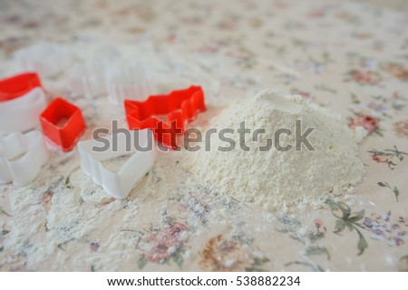 form for cookies with flour vintage style preparation beautiful