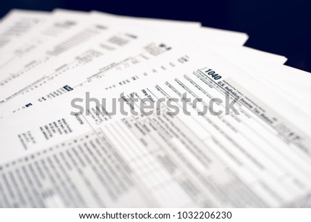 Form 1040 Individual Income Tax Return Stock Photo Royalty Free