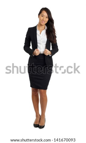 Formal Asian Business woman in formal suit