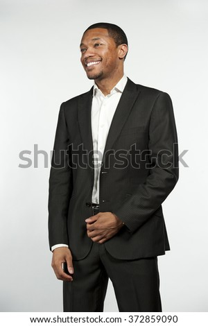 Formal Attire Black Male Laughing - stock photo