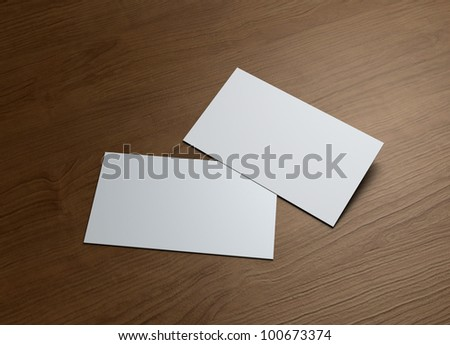 Formal style business cards presentation for Corporate promotion. - stock photo