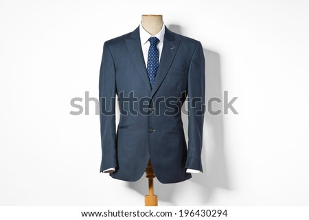 Formal suit on shop mannequins  - stock photo