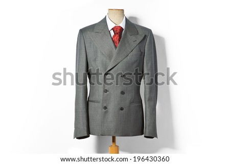 Formal suit on shop mannequins