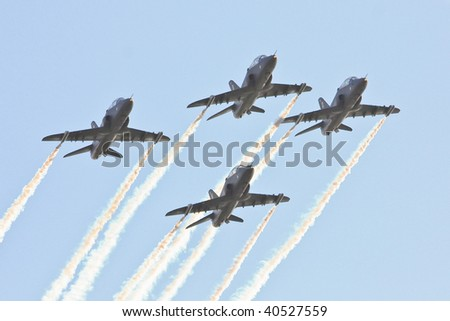 Formation of fighter planes