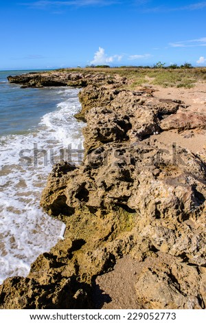 Formations of the Margarita Island in Venezuela
