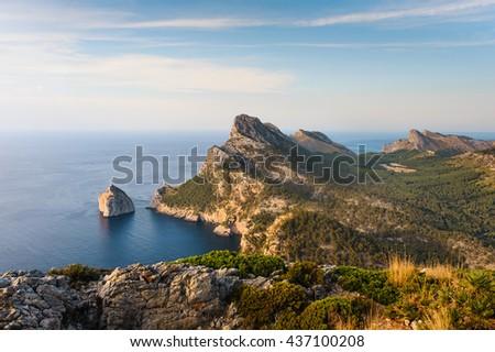 Formentor. The coast of Mallorca, Balearic Islands - stock photo
