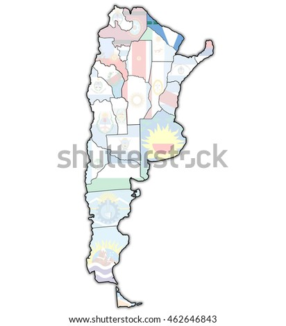 formosa region with flag on map of administrative divisions of argentina