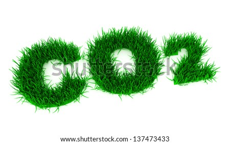 formula carbon dioxide to the 3d green lawn texture