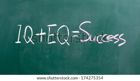 formula for success iq eq success concept - stock photo