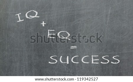 Formula for success, written on a blackboard