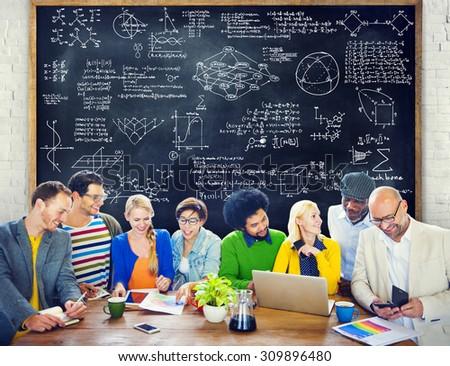 Formula Mathematics Equation Mathematical Symbol Geometry Information Concept - stock photo