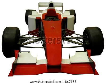 Formula one car isolated over white background - stock photo
