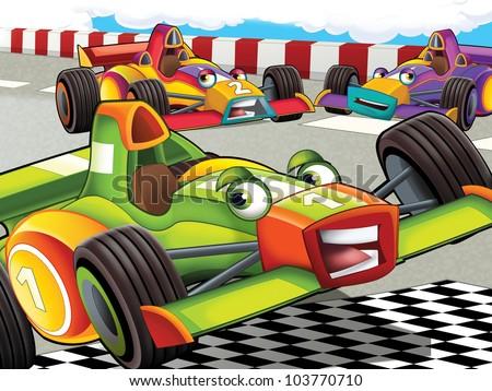 formula race - stock photo