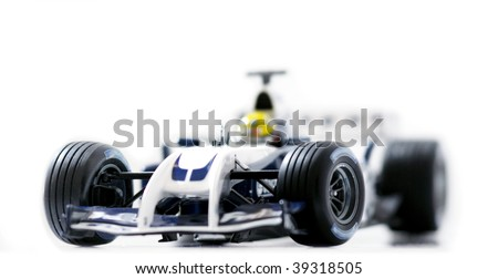 Formula 1 race detailed sport car. Focus is on the front part of the  car. Beautiful photograph for your magazine or poster! - stock photo