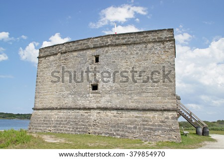 Fort at Florida river                       - stock photo