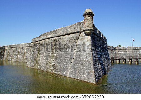 Fort at St Augustine,Florida                      - stock photo