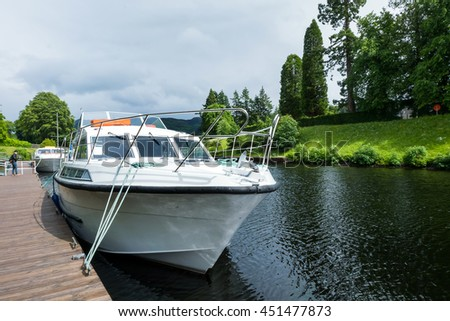 FORT AUGUSTUS, SCOTLAND, UK - June 30 :  Beautiful view and boat of  Fort Augustus, Scotland, UK on June 30 2016 in Edinburgh ,Scotland