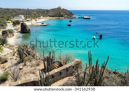 Fort Beekenberg - Views around the Caribbean Island of Curacao - stock photo