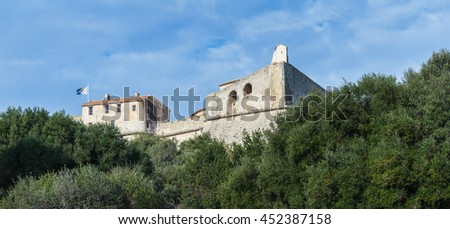 Fort Carre walls in Antibes, France - stock photo