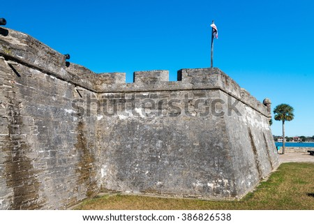 Fort Castillo de San Marcos , St. Augustine, Florida, US. - stock photo