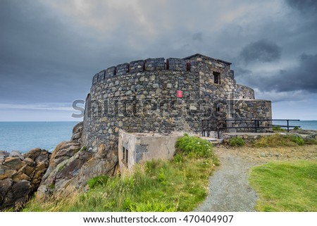 Fort Doyle, on the coast of the island of Guernsey