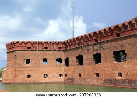 Fort Jefferson was the most sophisticated in a string of United States coastal forts - stock photo