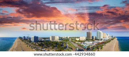 Fort Lauderdale from the air, Florida - USA.