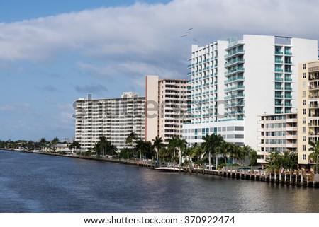 Fort Lauderdale Intracoastal Waterway - stock photo
