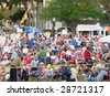 FORT MYERS, FL - APRIL 15: Tax Day Tea Party event participants show their signs in Ft. Myers on April 15, 2009 in Fort Myers. - stock photo