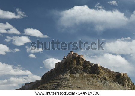 Fort of Gyantse in Tibet, China