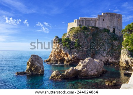 Fort of St. Lawrence (Fort Lovrjenac) in Dubrovnik, Croatia  - stock photo