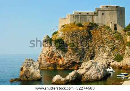 Fort on the hill in Dubrovnik (Croatia)