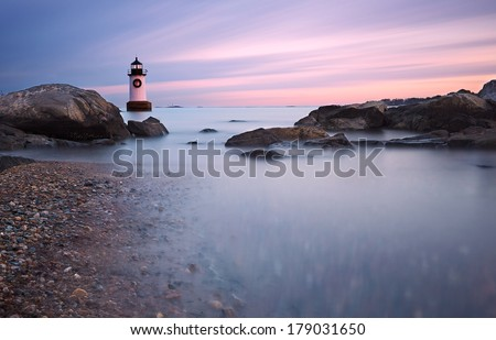 Fort Pickering Light, Salem Massachusetts - stock photo